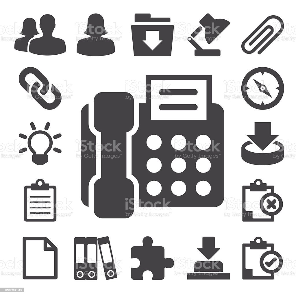 Office icons set. royalty-free stock vector art