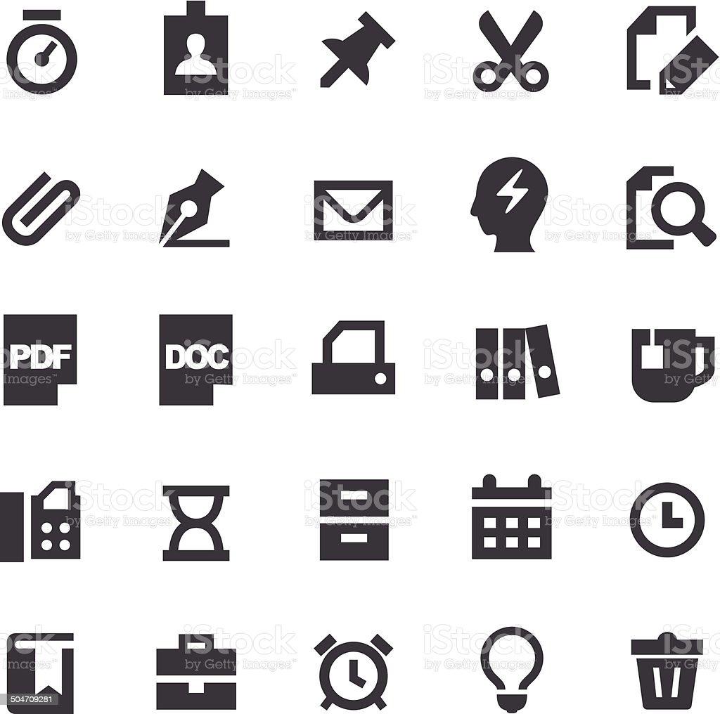 Office Icons - Smart Series vector art illustration