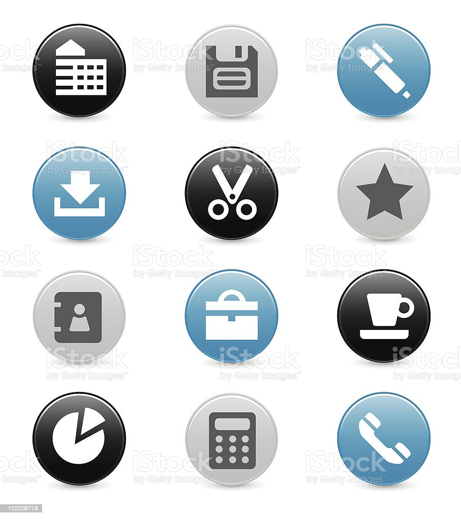 Office icons | Smoothly series royalty-free stock vector art