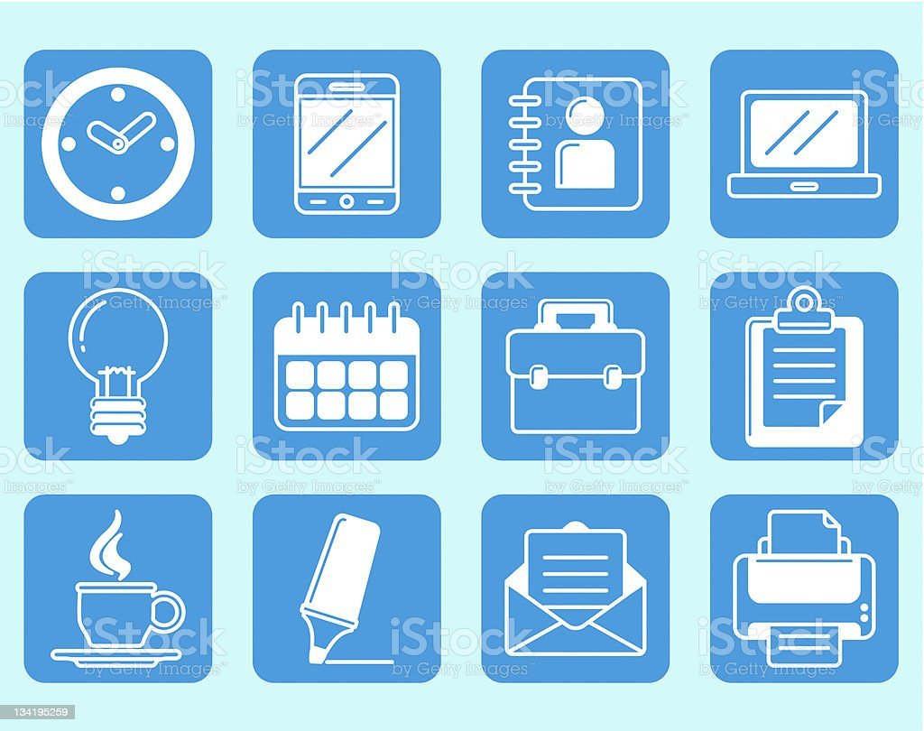 office icons royalty-free stock photo