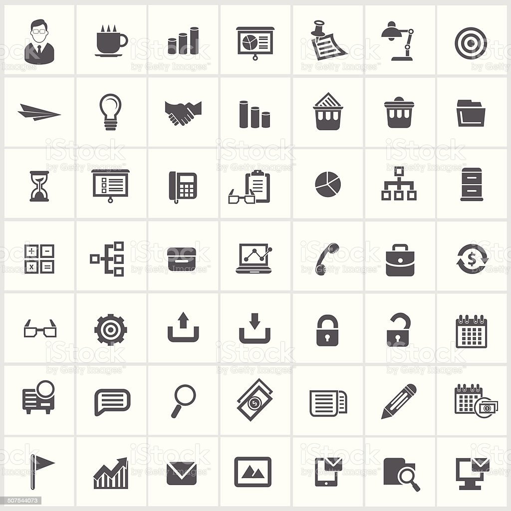 Office icons,vector vector art illustration