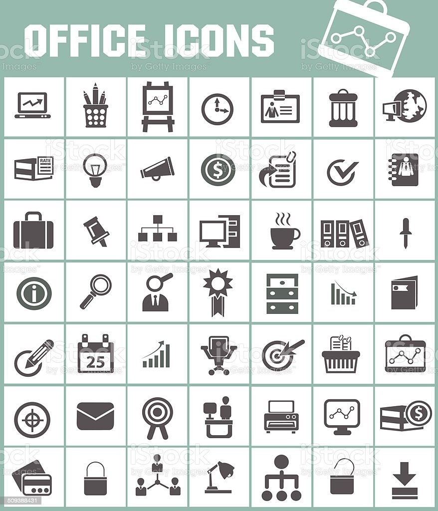 Office icon,vector vector art illustration