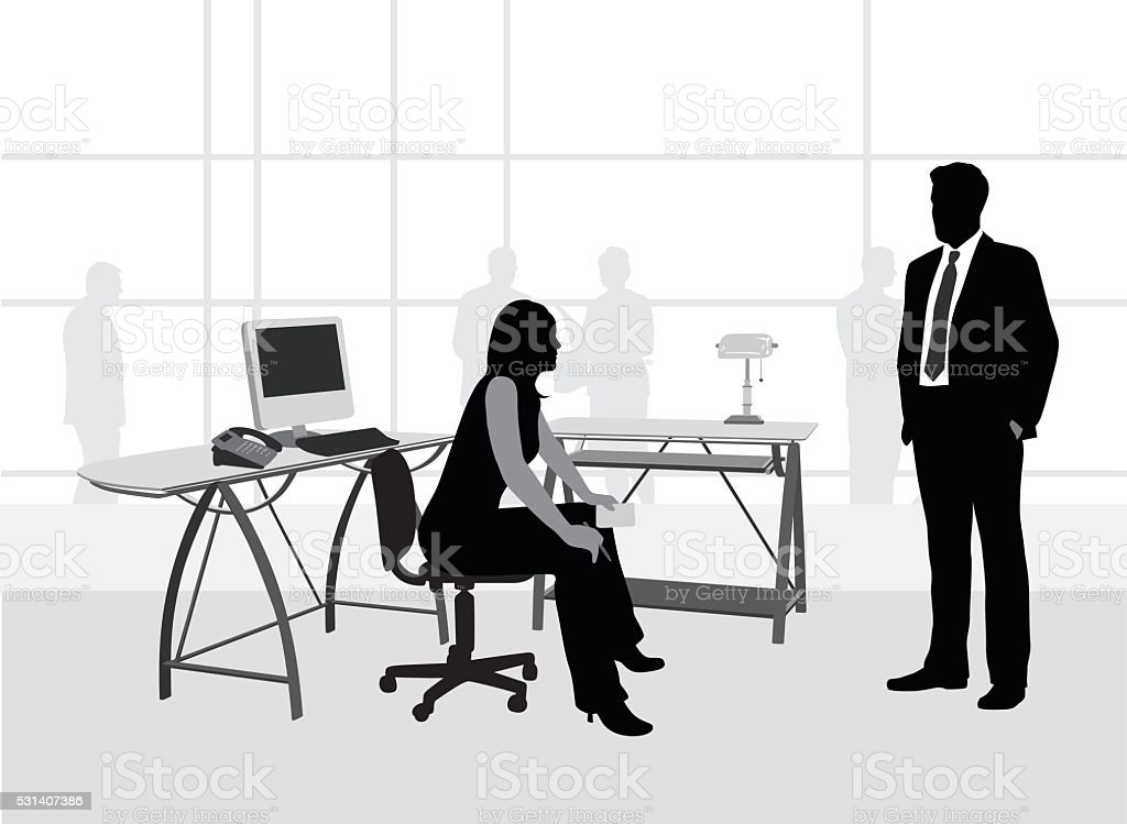 Office Idea Desk vector art illustration