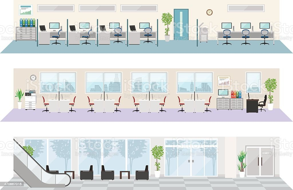 Office image illustrations vector art illustration