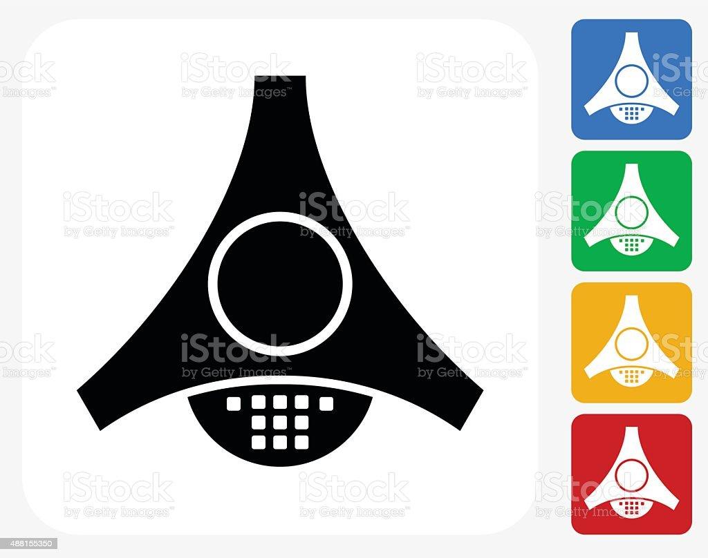 Office Intercom Icon Flat Graphic Design vector art illustration