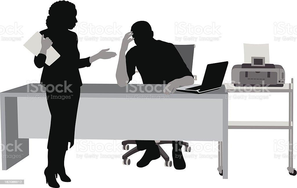 Office Laptop royalty-free stock vector art