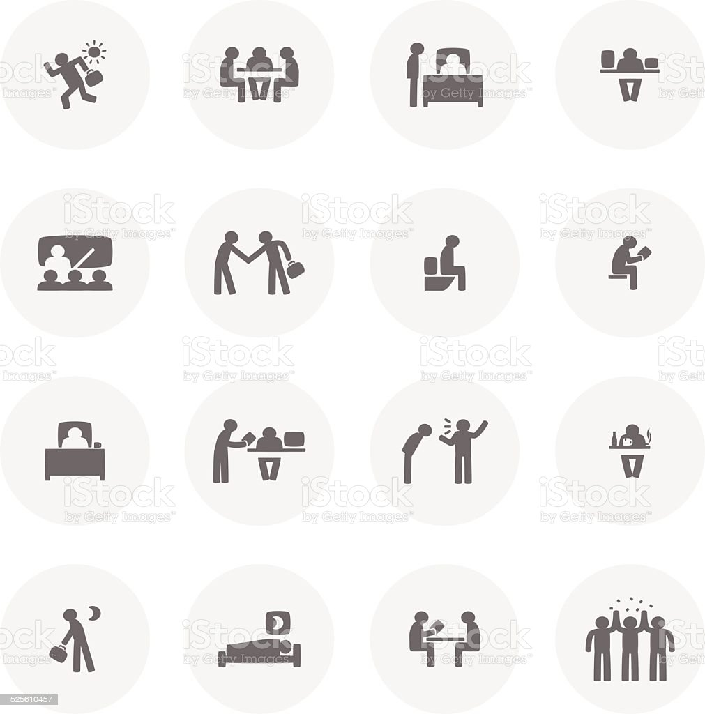 Office Life vector art illustration