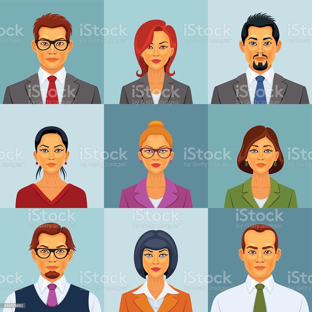 Office People vector art illustration