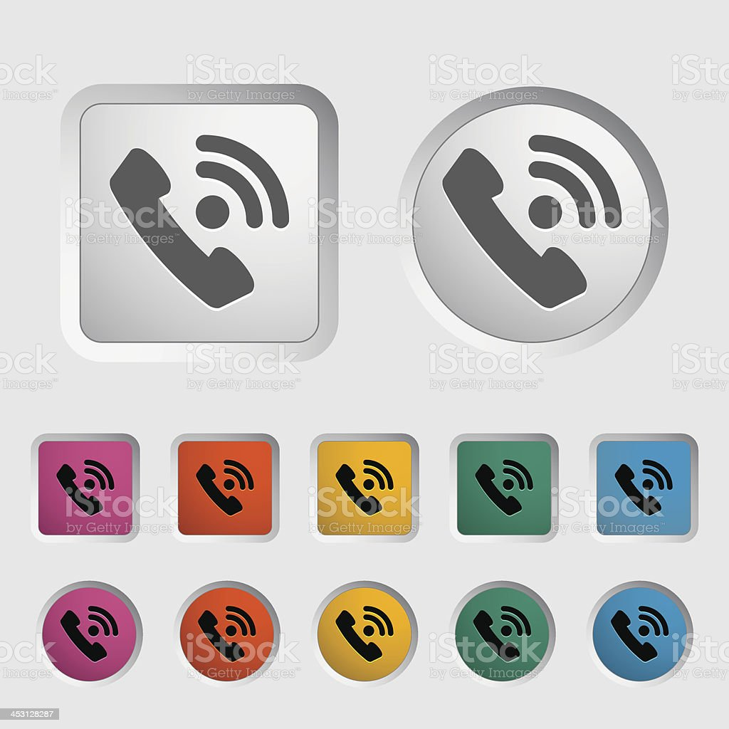 Office phone icon. royalty-free stock vector art
