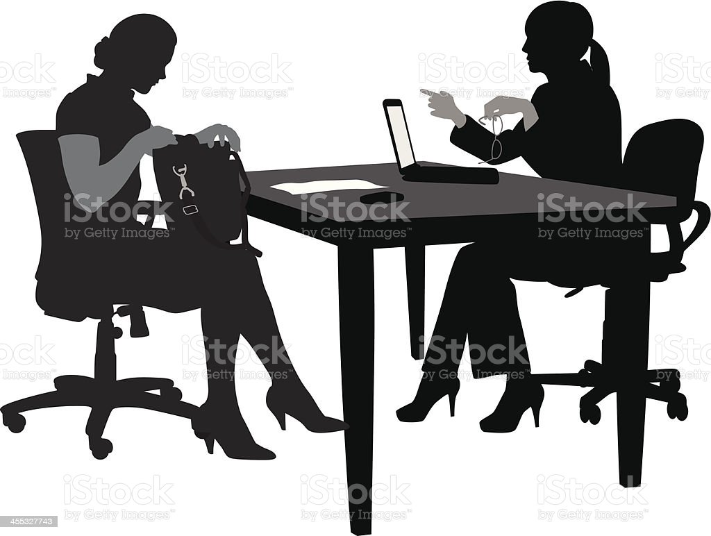 Office Ready Vector Silhouette royalty-free stock vector art
