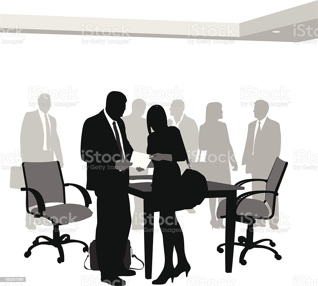 Office Relationships royalty-free stock vector art