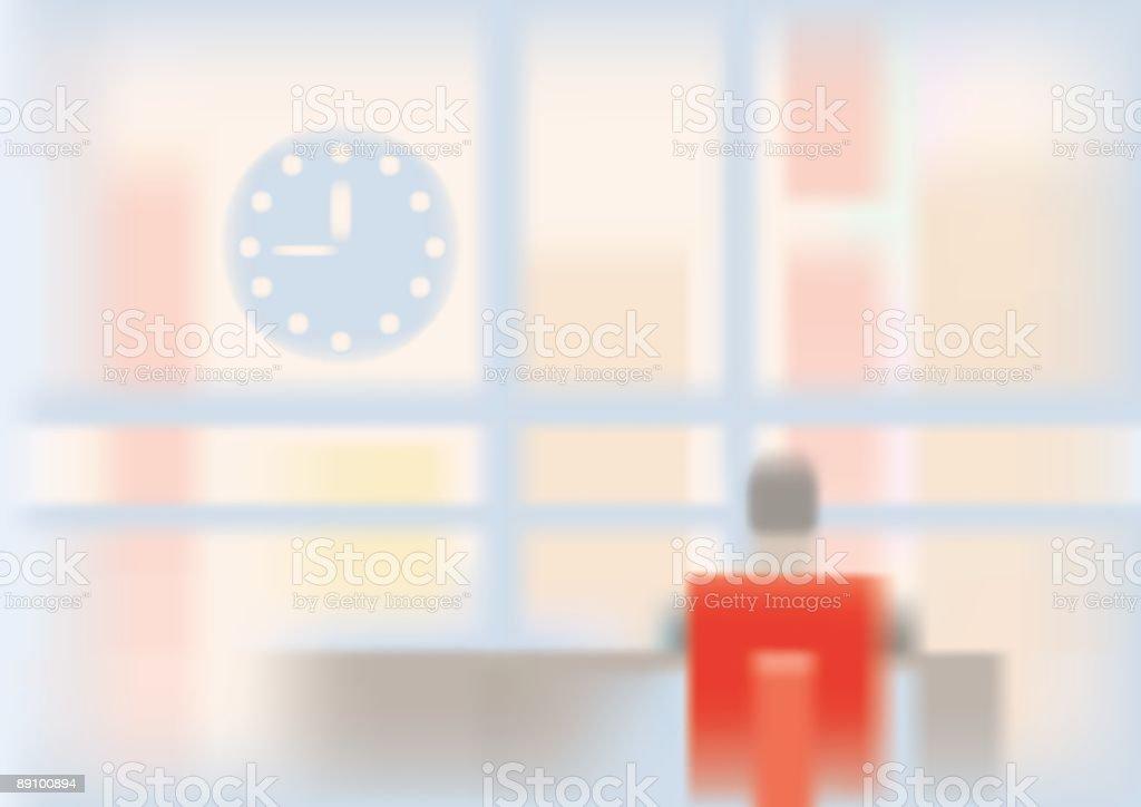 Office scene royalty-free stock vector art