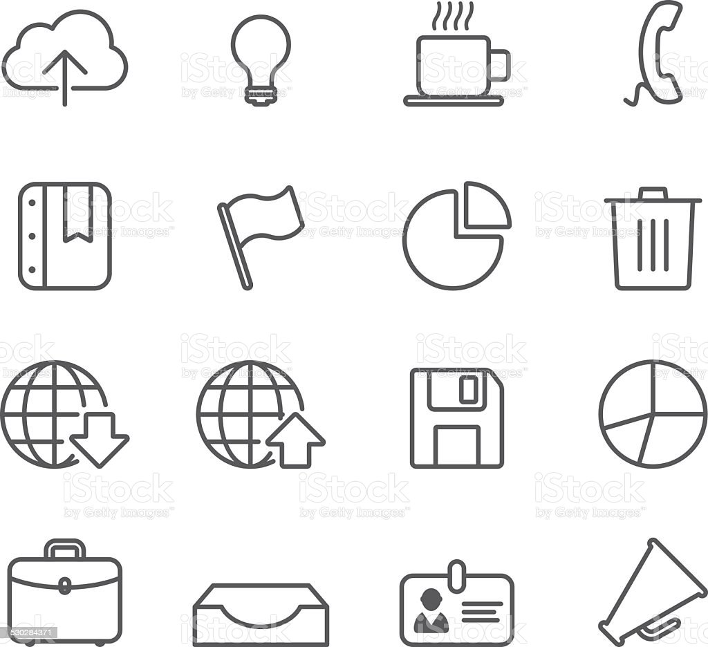Office - Simple Icons vector art illustration