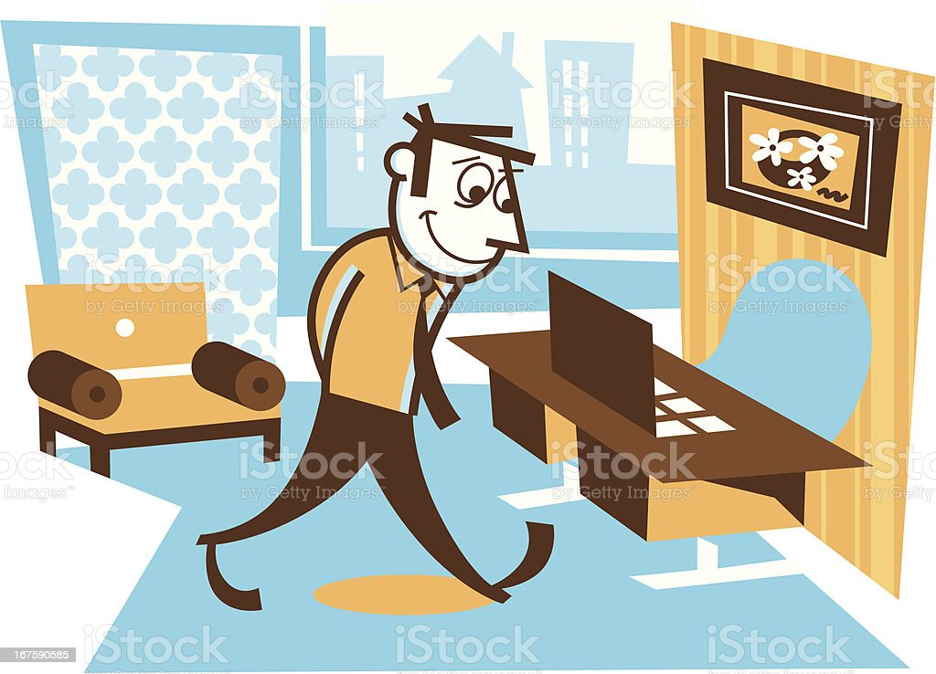 office space royalty-free stock vector art