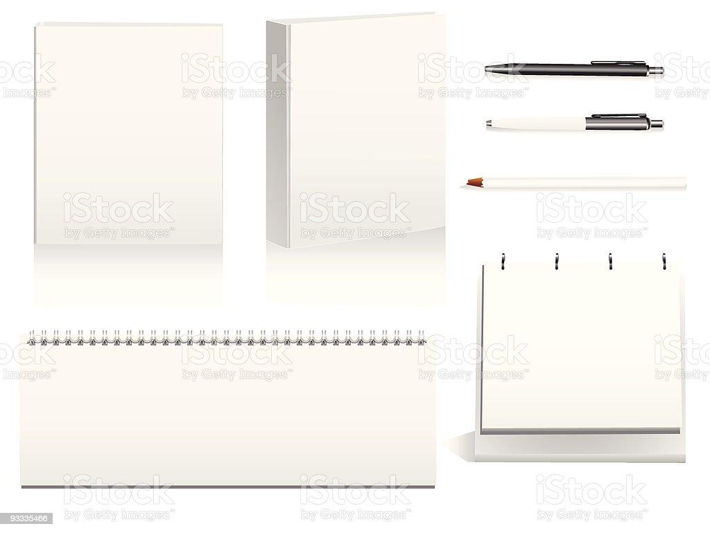 Office stationary vector art illustration