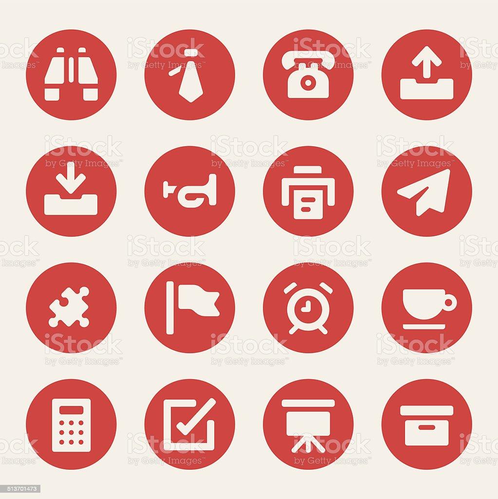 Office stuff icons - Bold - Circle vector art illustration