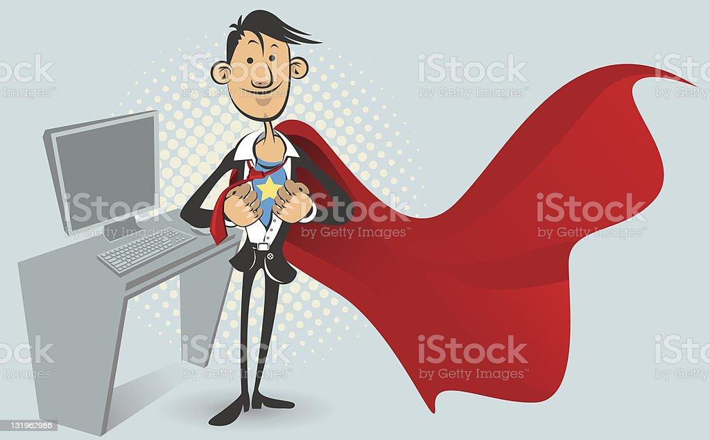 Office superhero royalty-free stock vector art