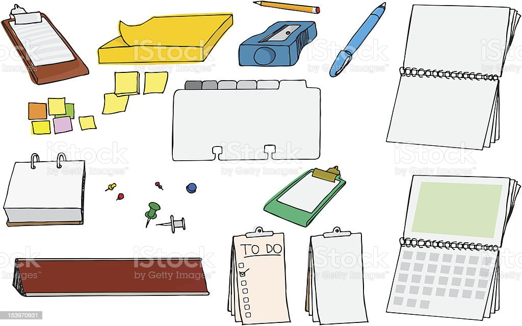 Office Supplies I royalty-free stock vector art