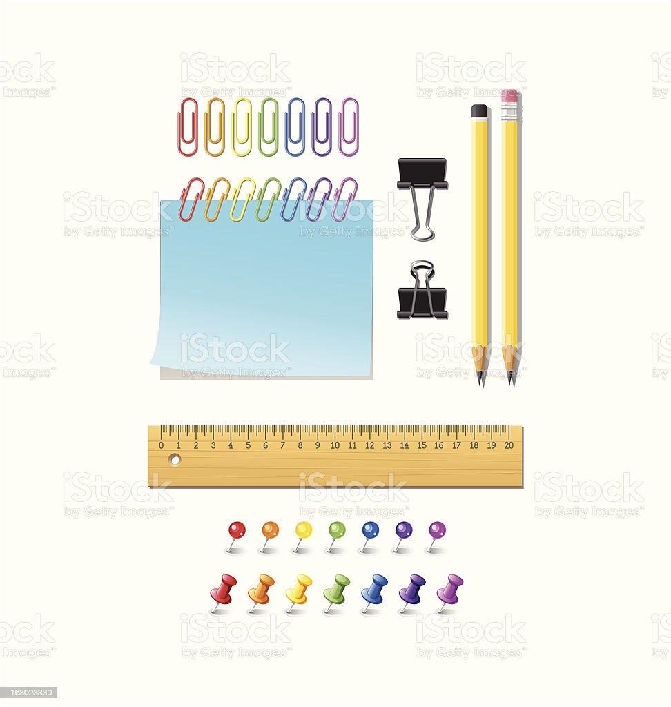 Office Supplies - Set 2 royalty-free stock vector art