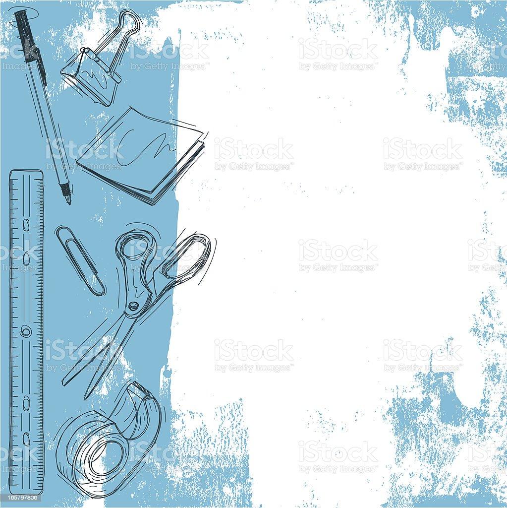 office supply background vector art illustration
