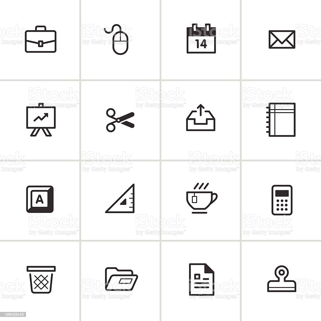Office Supply Icons 2 — Inky Series vector art illustration