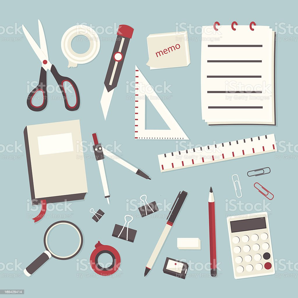 office supply - stationary display royalty-free stock vector art