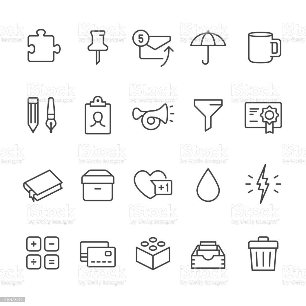 Office Supply vector icons vector art illustration