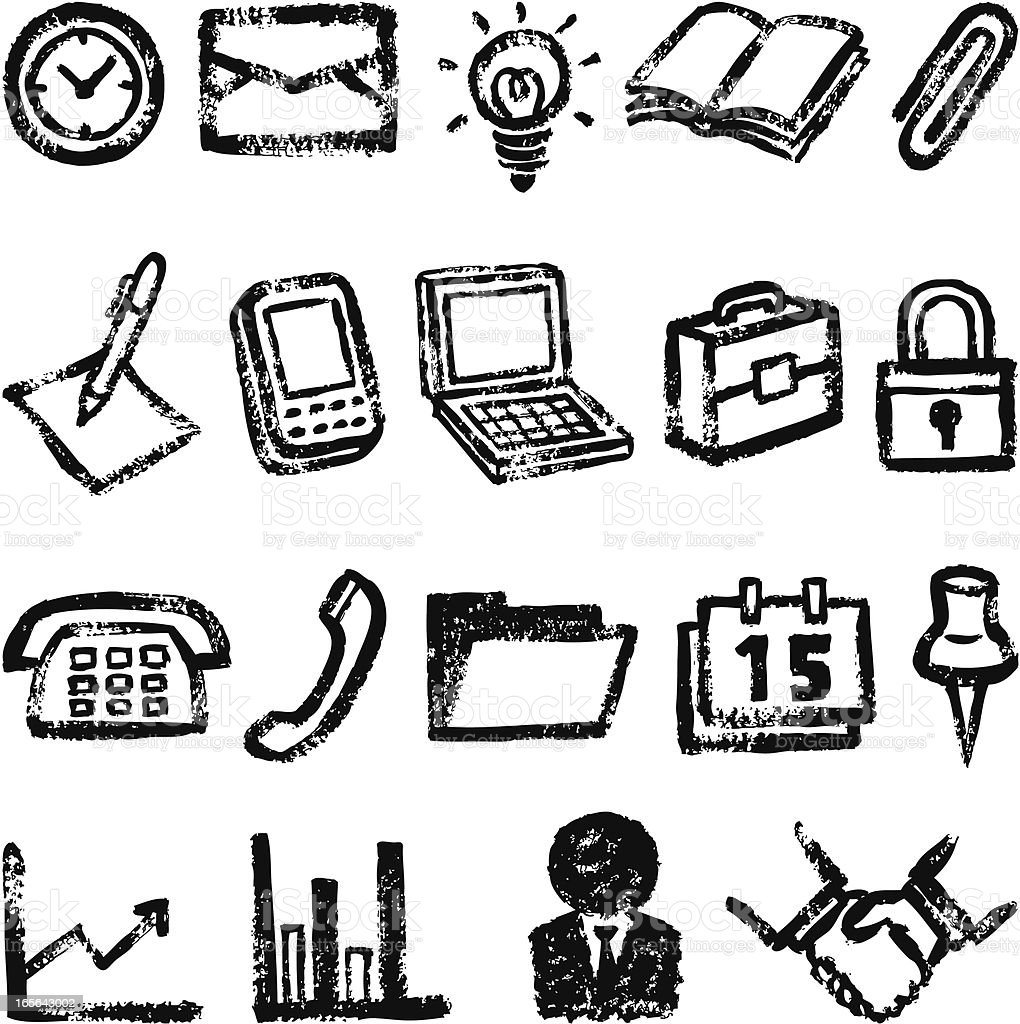 Office symbols royalty-free stock vector art