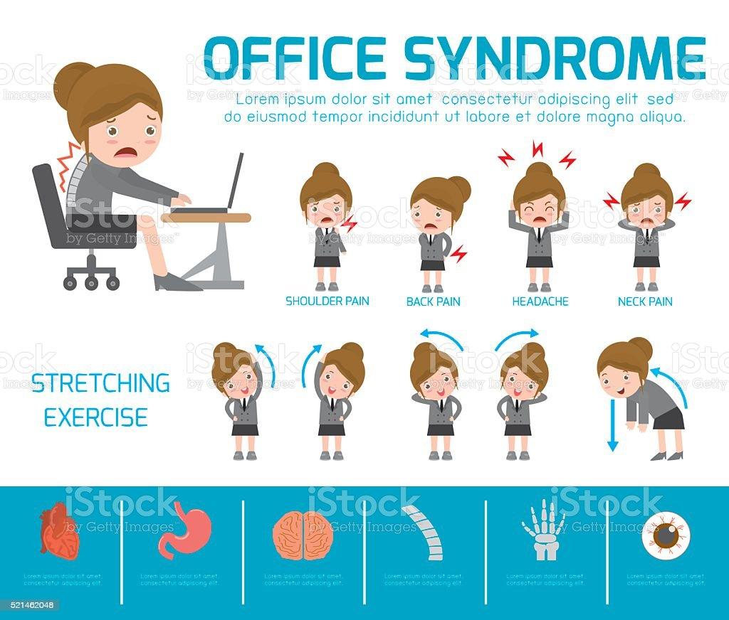 Office syndrome. vector art illustration