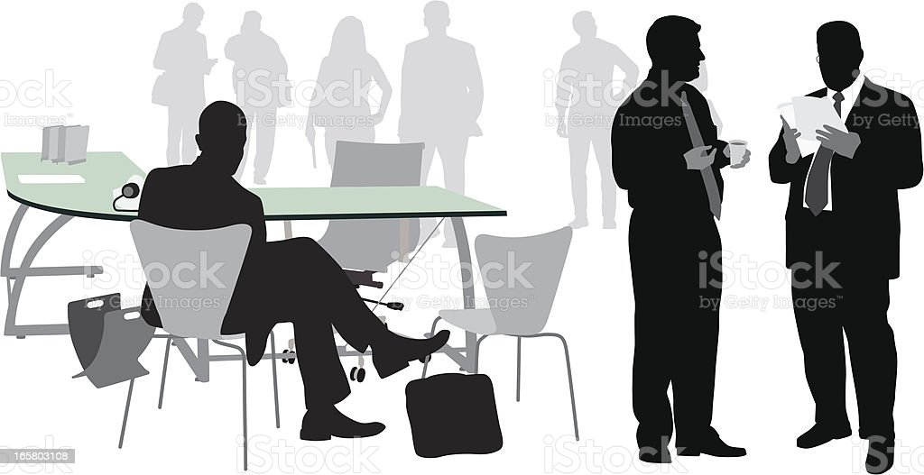 Office Table Vector Silhouette royalty-free stock vector art