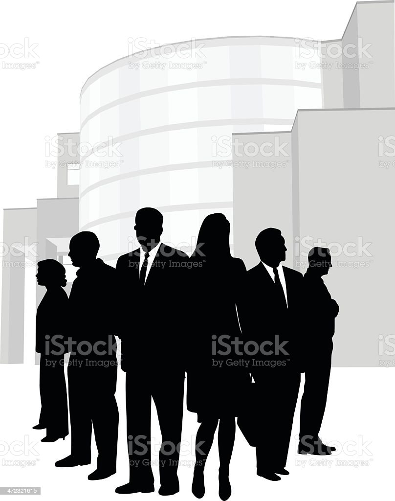 Office Team royalty-free stock vector art