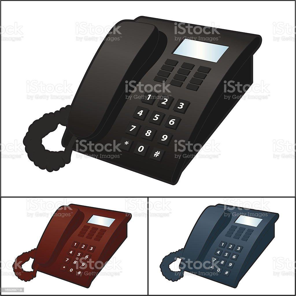 Office Telephone vector art illustration