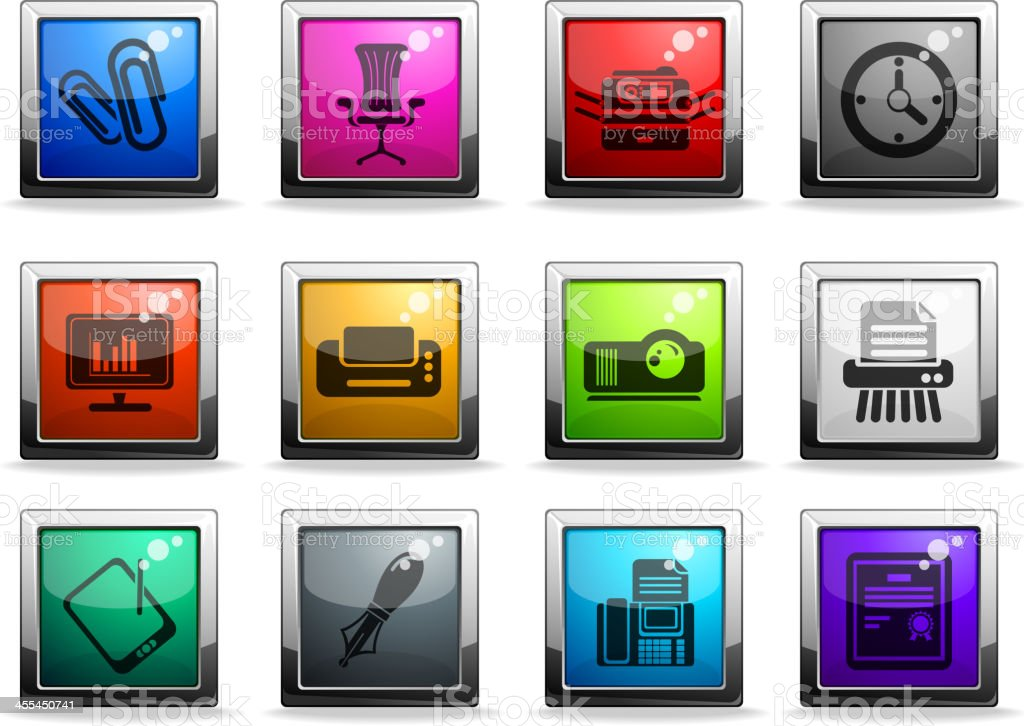 Office vector icons royalty-free stock vector art