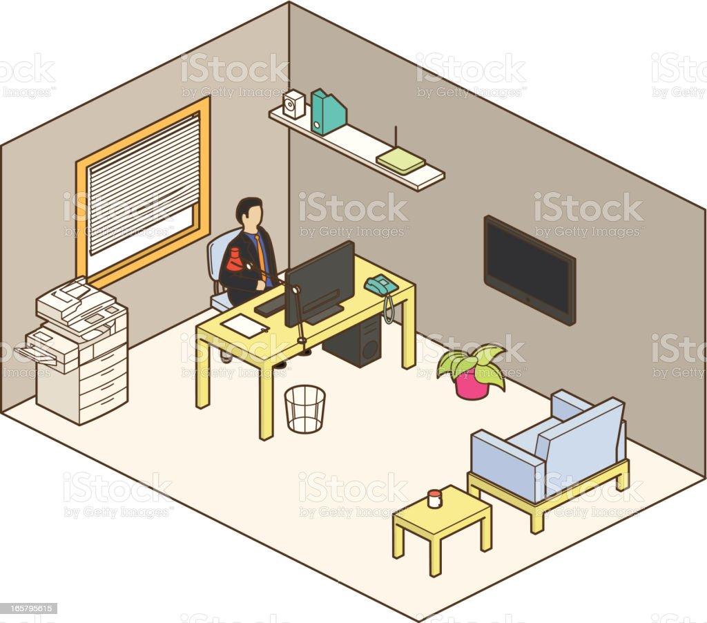 office royalty-free stock vector art