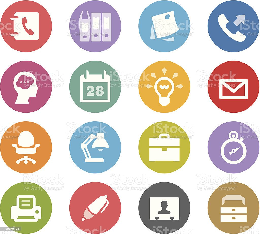 Office / Wheelico icons royalty-free stock vector art
