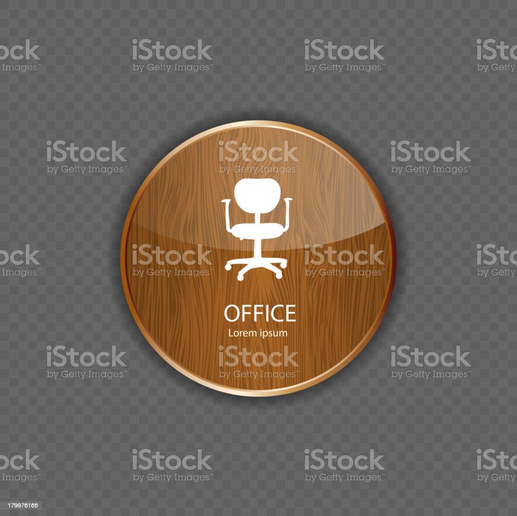 Office wood application icons vector royalty-free stock vector art