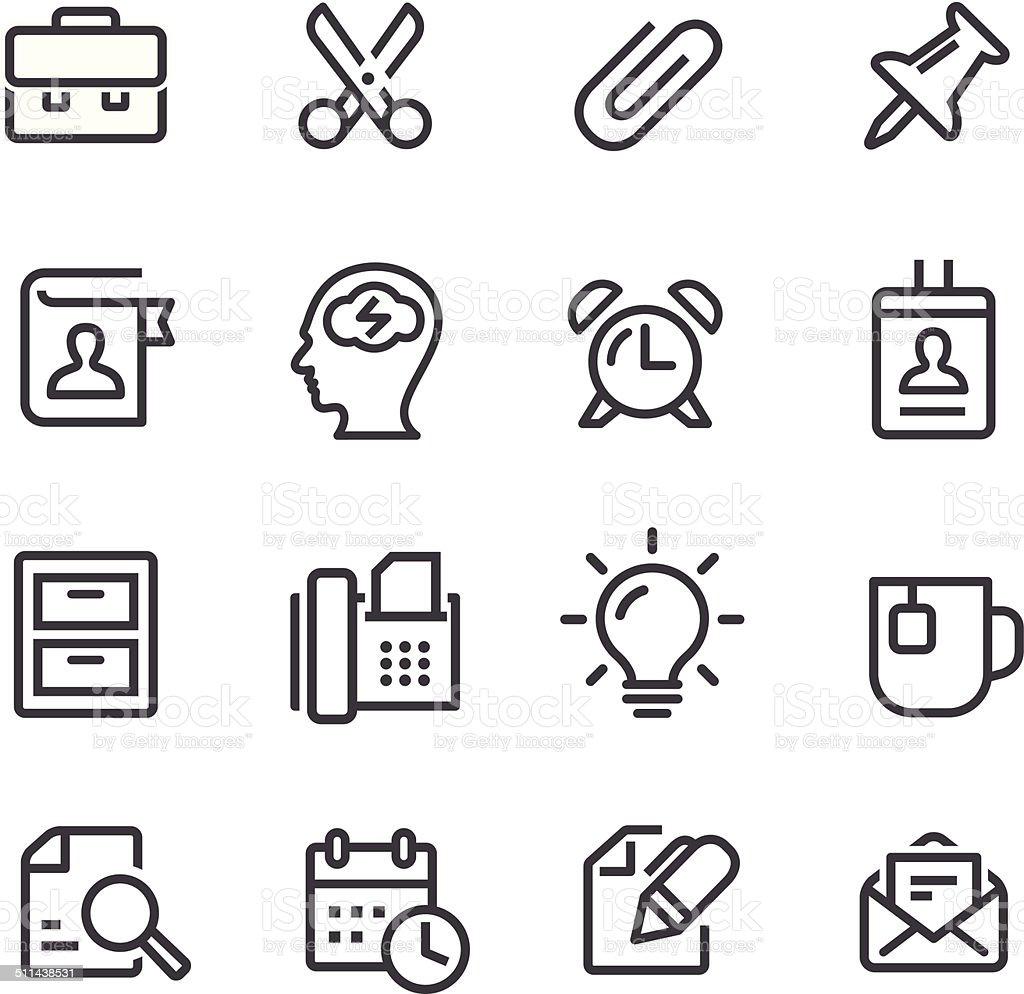 Office Work Icons - Line Series vector art illustration
