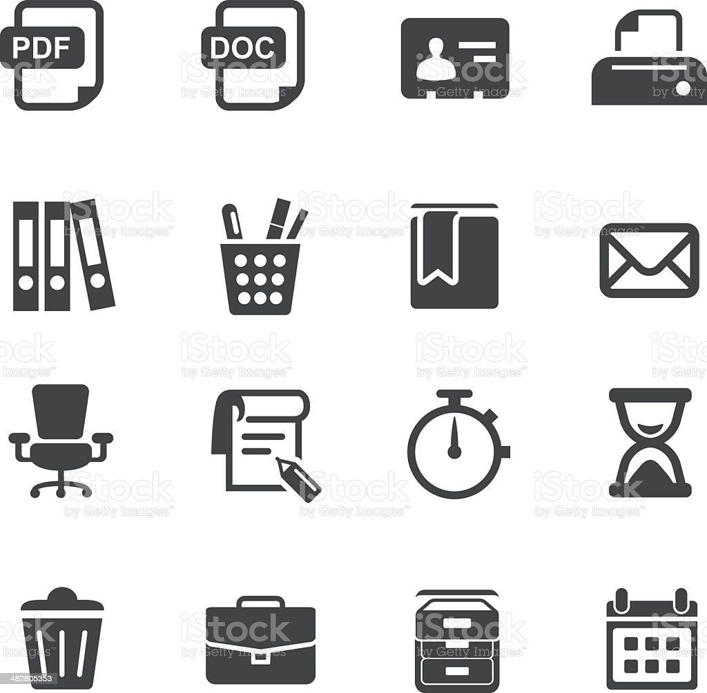 Office Work Icons Set 2-Acme Series vector art illustration