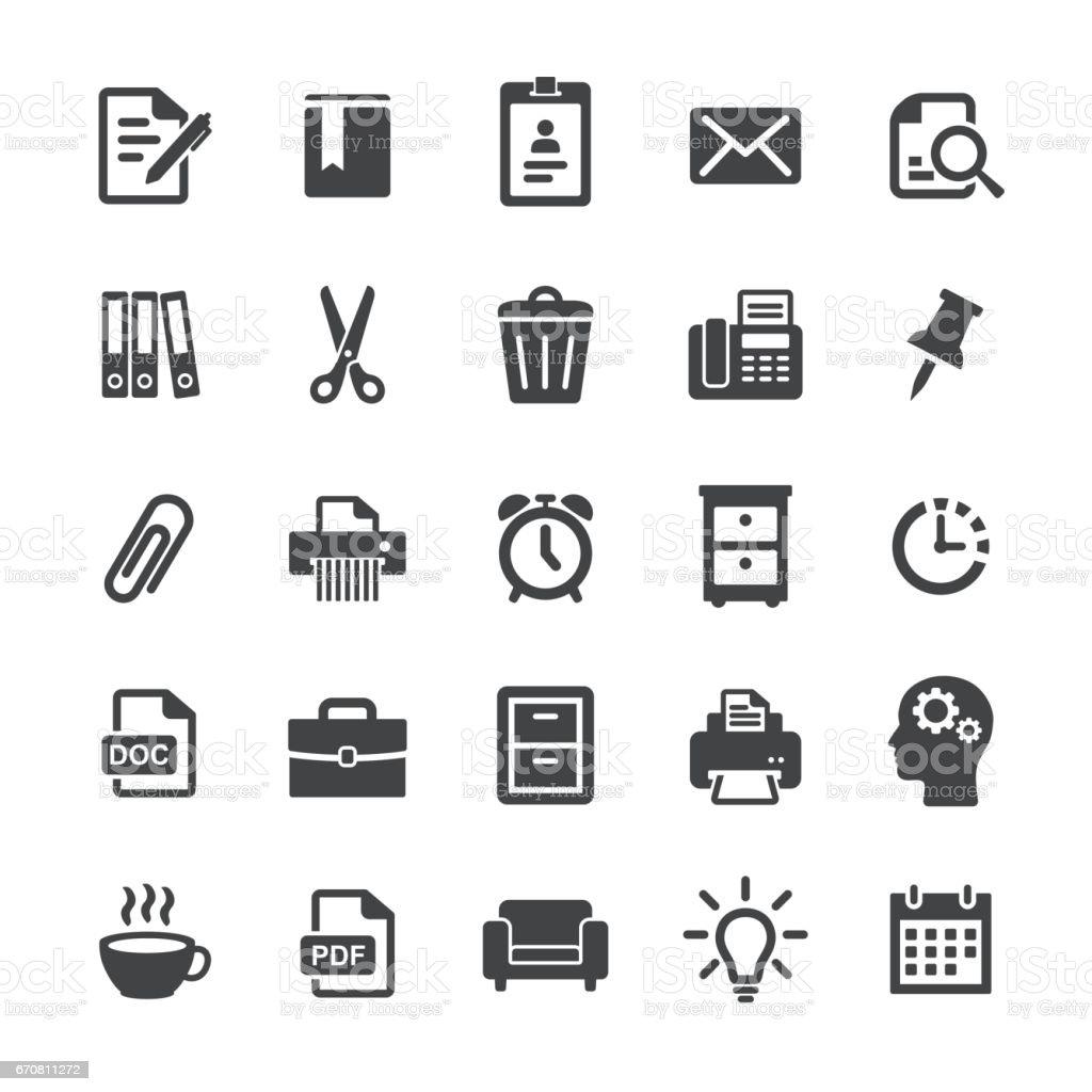 Office Work Icons - Smart Series vector art illustration