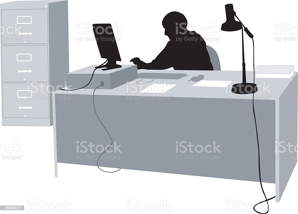 Office Work vector art illustration