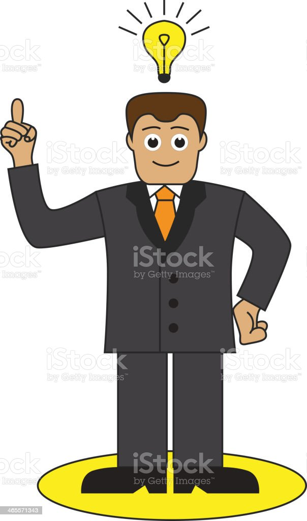 office worker came up with a good idea royalty-free stock vector art
