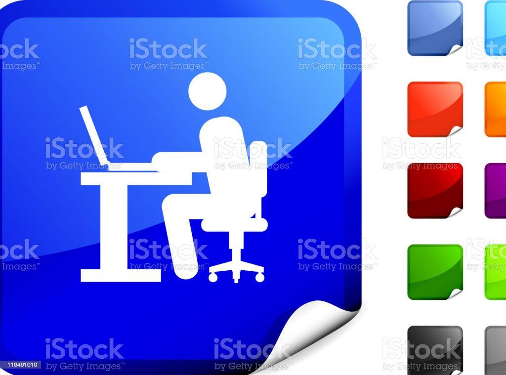 office worker internet royalty free vector art royalty-free stock vector art