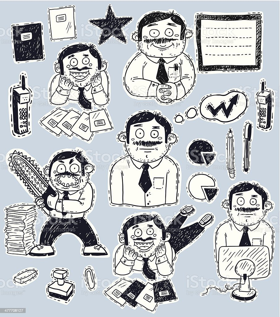 office worker set royalty-free stock vector art