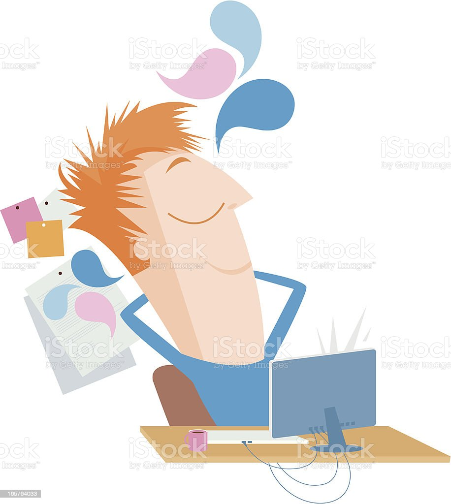 Office worker. royalty-free stock vector art