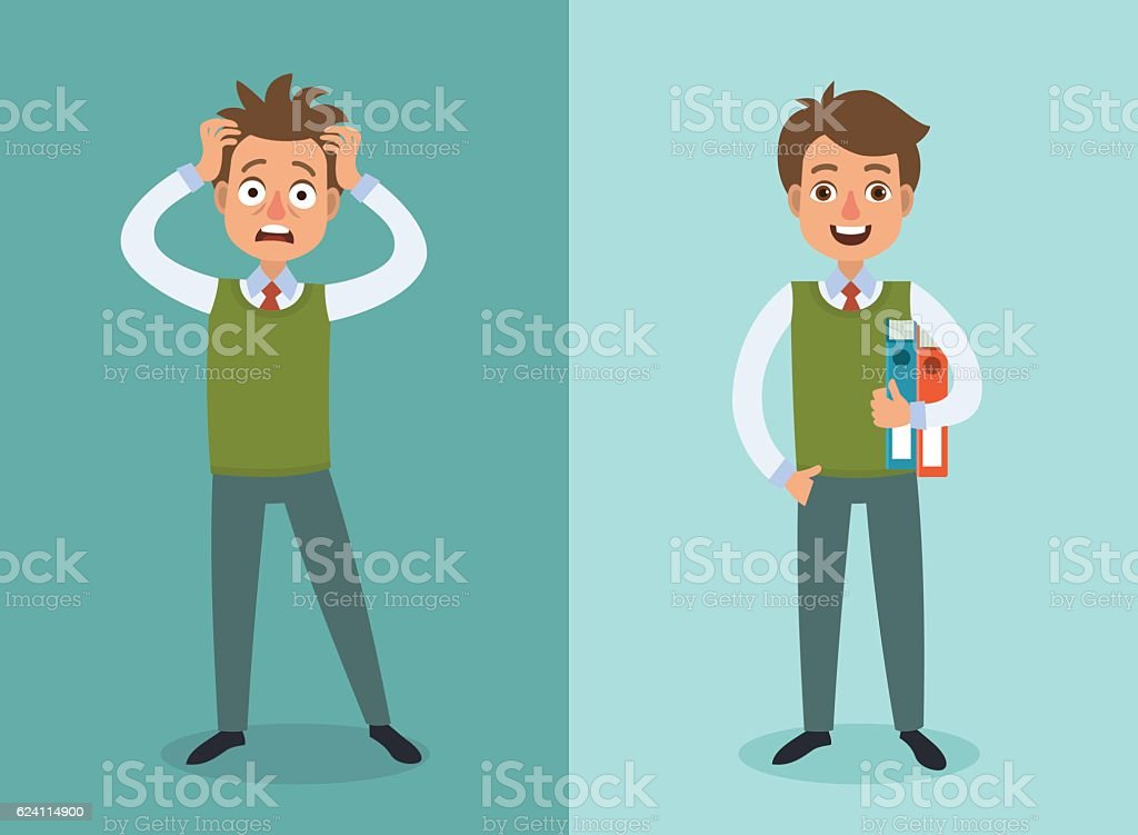 Office worker vector art illustration