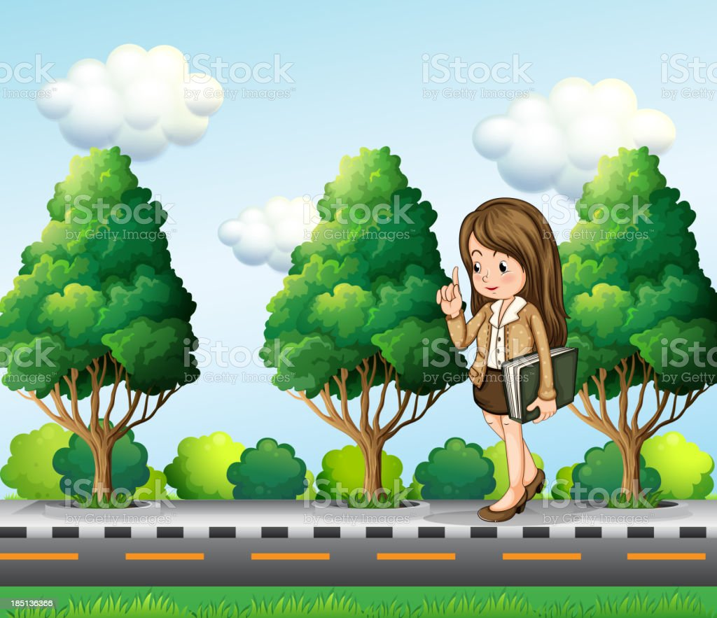 office worker walking at the street royalty-free stock vector art