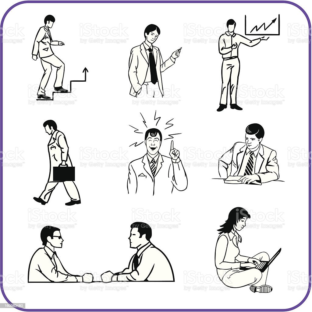 Office workers - business set. royalty-free stock vector art