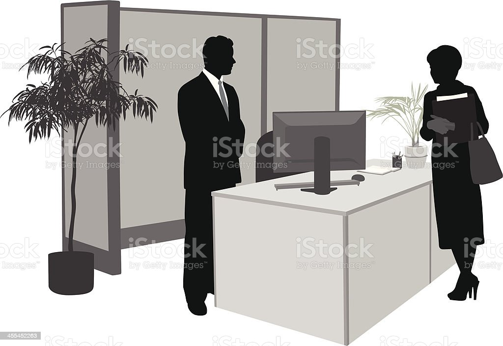 Office workers royalty-free stock vector art