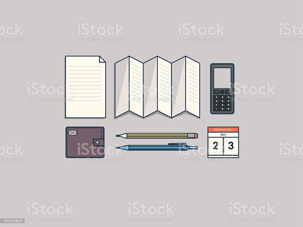 Office workplace vector art illustration