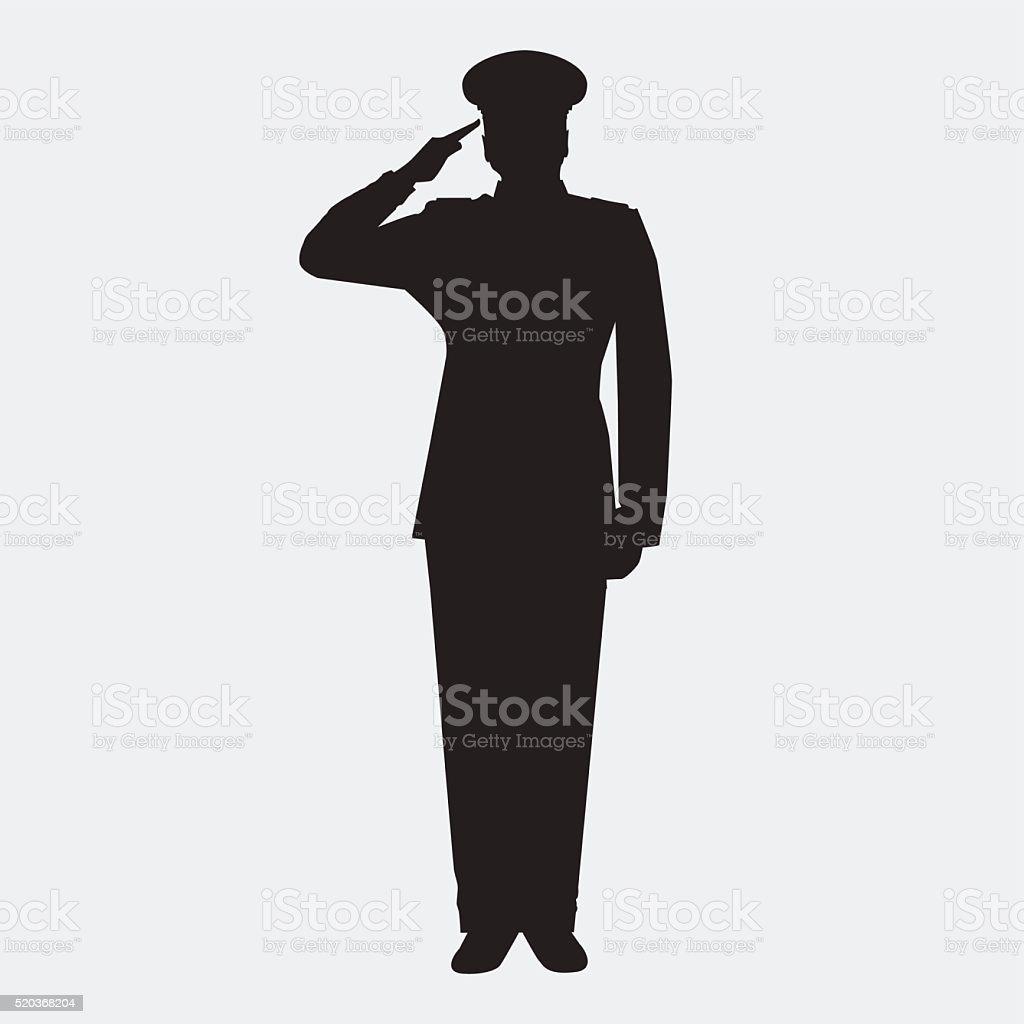 officer vector art illustration